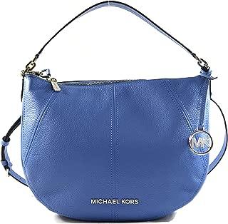 Bedford Medium Crescent Shoulder Bag Leather French Blue
