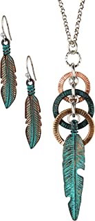 SPUNKYsoul Feather Circle Long Necklace for Women Collection