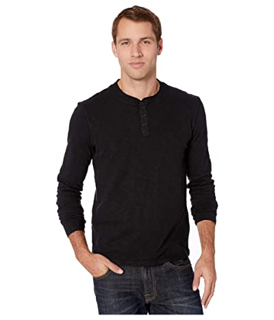 Lucky Brand Long Sleeve Snap Henley Men