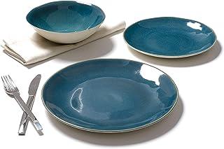 comprar comparacion TEX - Vajilla 12 Piezas Mafra Azul