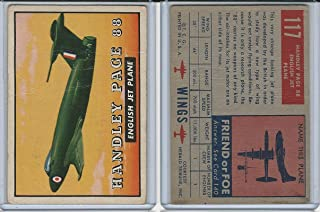 1952 Topps, Wings, 117 Handley Page 88, England Airplane