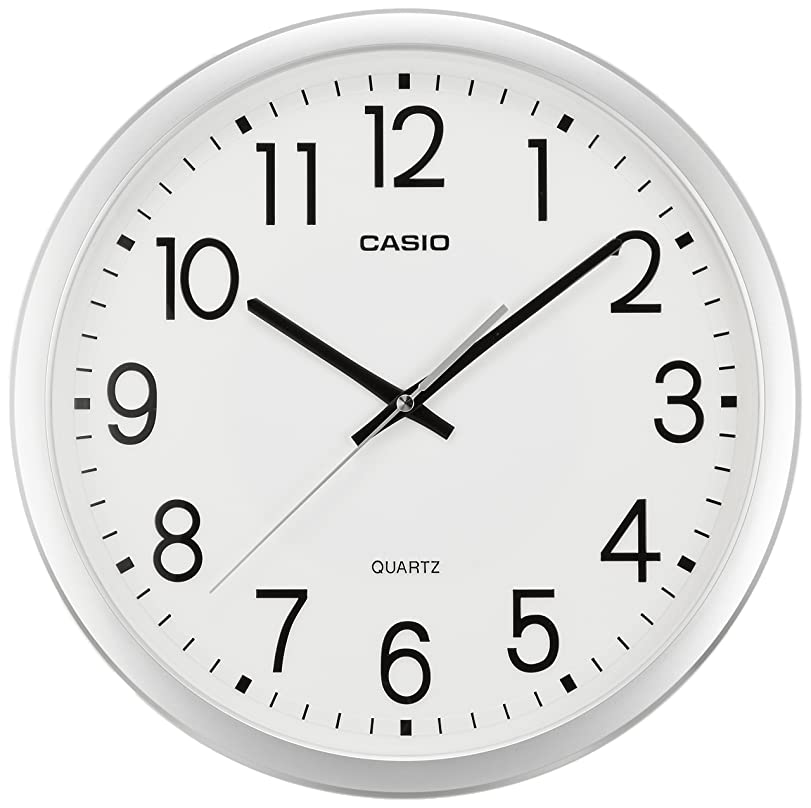 多様なプラス脈拍CASIO(カシオ) 掛け時計 アナログ 連続秒針 シルバー IQ-77-8JF