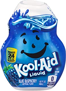 Kool-Aid Blue Raspberry Liquid Drink Mix, Caffeine Free, 1.62 fl oz Bottle