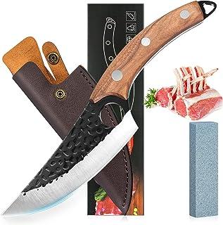 YAMTION Couteau Couteau Cuisine ForgéS à La Main Couteaux De Chef Couteau Japonais L'éTui De Protection Couteau Antirouill...