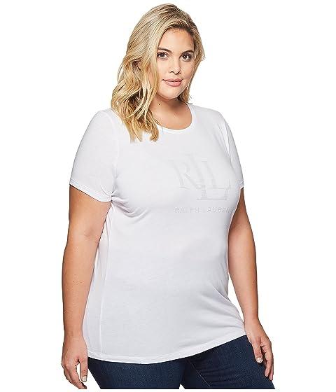 LAUREN Talla Plus Gráfica Ralph Camiseta Blanca Lauren LRL raOU4qrw