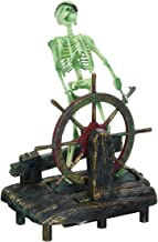 Penn-Plax Aerating Action Ornament, Skeleton at The Wheel – Moving Decoration