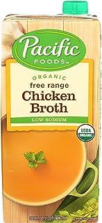 Pacific Foods Organic Free Range Chicken Broth, Low Sodium, 32 oz