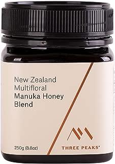 Three Peaks Manuka Honey New Zealand – Multifloral Blend, 8.81 oz (250gm) - 100% Natural honey, Raw honey – Healing Manuka honey