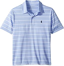 Polo Ralph Lauren Kids - Striped Performance Lisle Polo (Big Kids)