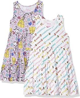 Spotted Zebra Girl's Disney Star Wars Marvel Frozen Princess Knit Sleeveless Tiered Dresses