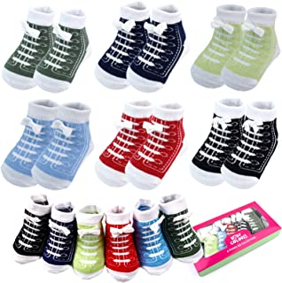 6 Pairs 0-6 month Baby Newborn Ankle Sock Toddler Crew Walkers Bootie Infant Socks
