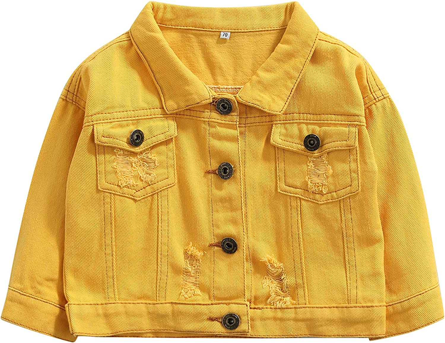 Baby Houston Mall Boys Girls Baltimore Mall Denim Jackets Kids Button Ripped Toddler Je Down