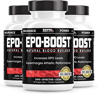EPO-Boost Natural Blood Builder Sports Supplement. Oxygen & RBC Booster with Echinacea & Dandelion Root for Increased VO2 ...