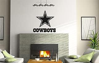 INCreation Company NCAA TX Dallas Cowboys Logo Wall Decal Vinyl Sticker Mural Graphics Home Decor NFL Fan Room Customization