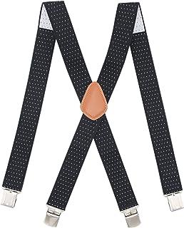 Bioterti - Tirantes de espalda para hombre de alta resistencia, ajustable, tirantes largos y elásticos