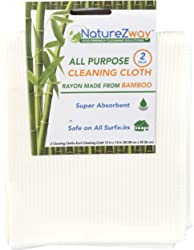 NATUREZWAY Cloth Drying Bamboo 2PK