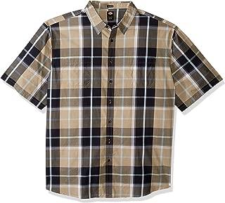 Men's Yarn Dyed Plaid Short Sleeve Shirt Big-Tall
