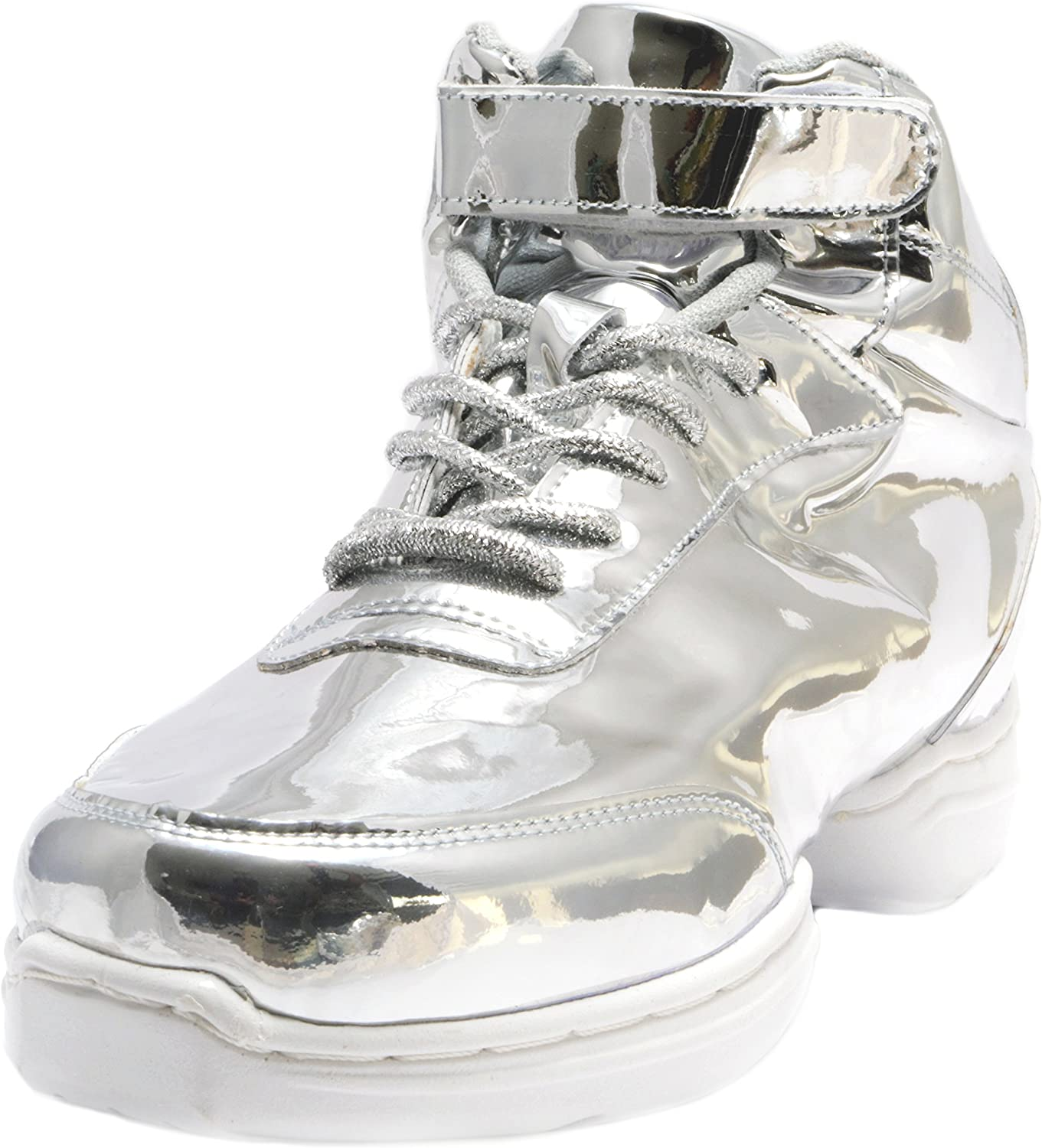 Nene's Collection Silver Women's Dance Fitness Ankle High Top Sneakers Nene's shoes