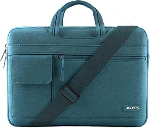 MOSISO Laptop Shoulder Bag Compatible with MacBook Pro/Air 13 inch, 13-13.3 inch Notebook Computer, Polyester Flapove...