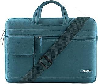 MOSISO Laptop Shoulder Bag Compatible 15-15.6 Inch MacBook Pro, Ultrabook Netbook Tablet, Polyester Flapover Protective Messenger Briefcase Carrying Handbag Sleeve Case Cover, Deep Teal