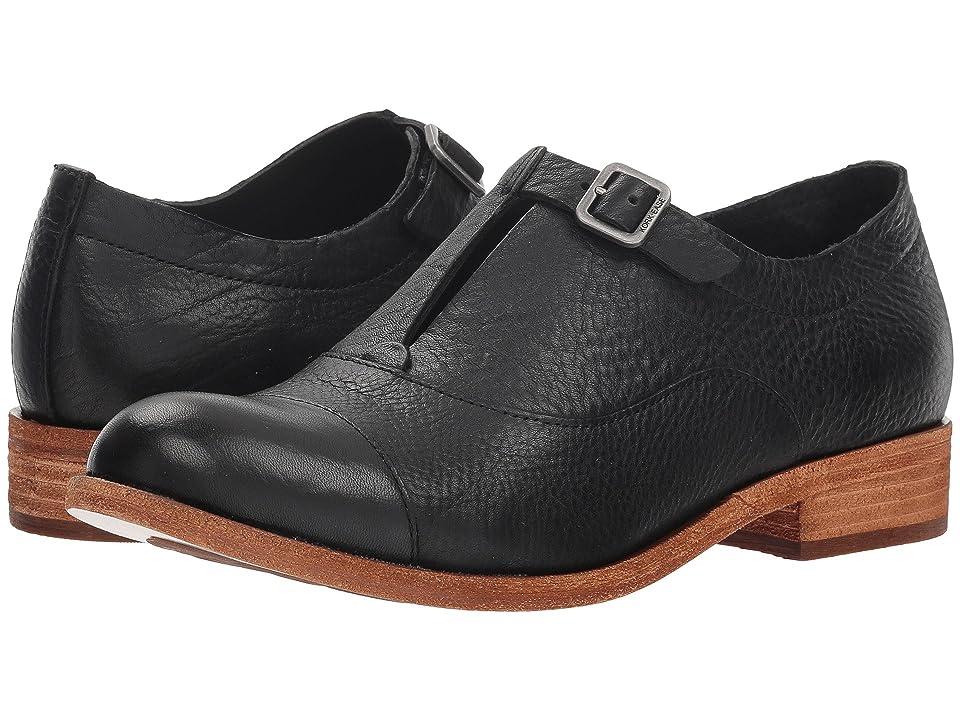 60s Shoes, Boots | 70s Shoes, Platforms, Boots Kork-Ease Niseda Black Full Grain Womens Hook and Loop Shoes $175.00 AT vintagedancer.com