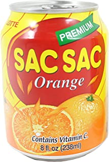 Lotte Sac Sac Orange 8 FL.oz (20 cans)