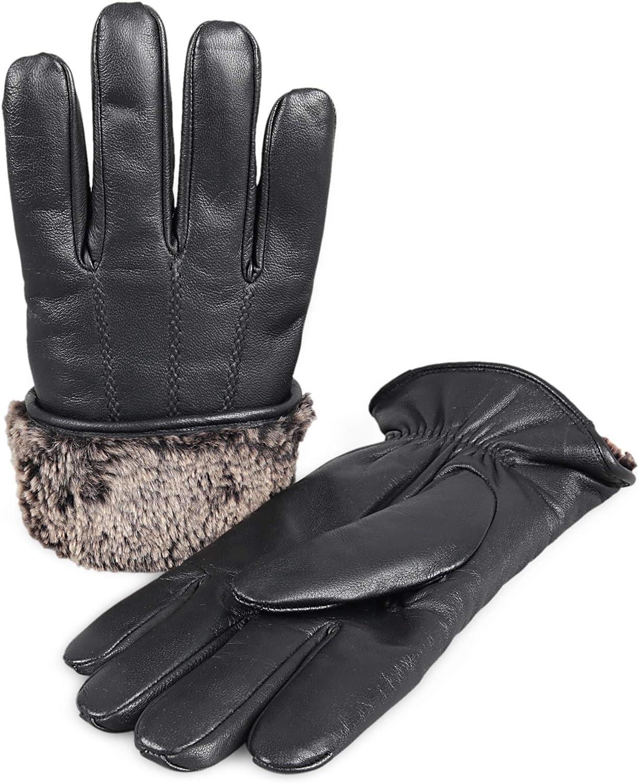 Brand Cheap Sale Venue Zavelio Men's Premium Shearling Sheepskin Glov Superlatite Leather Fur Lined