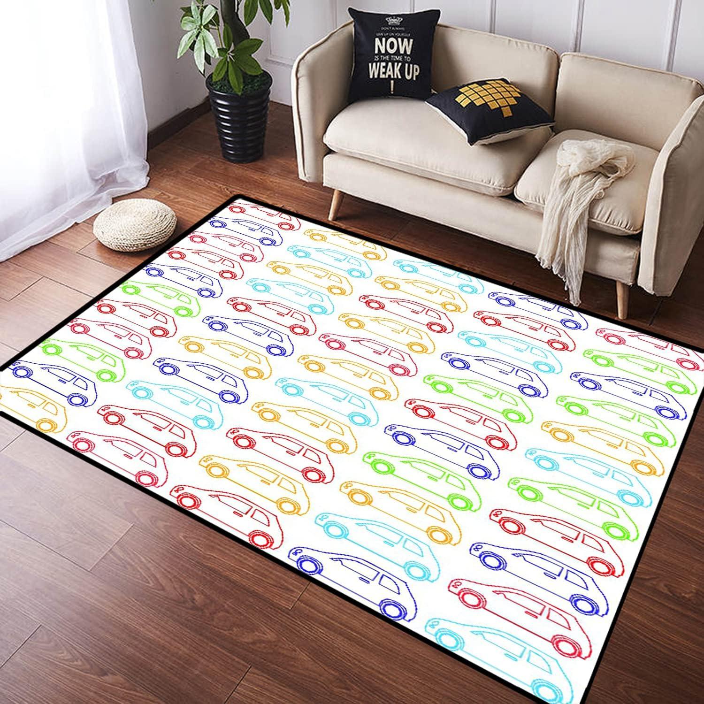 ZOMOY Long Floor Mat shopping Carpet Non-Slip Super-cheap Indo Absorbent Cars Pattern