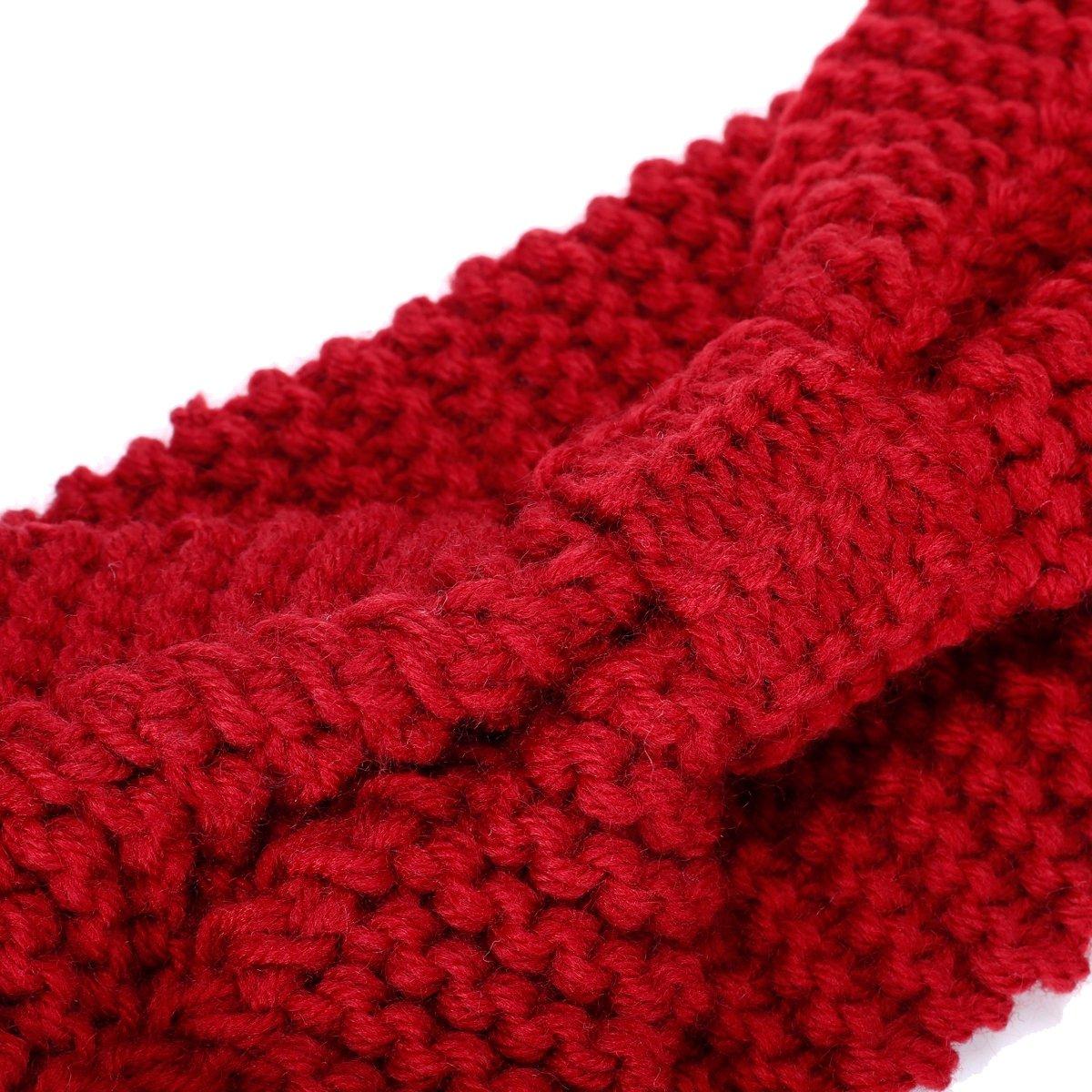 ieasysexy Women's Knitted Turban Bow Headband Ear Warmer Head Wrap