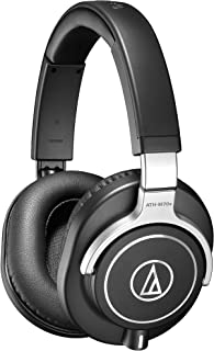 Audio-Technica ATH-M70X Auriculares Profesionales para Monitorización en Estudio, Negro/Plata