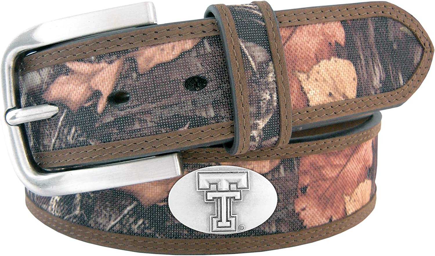 outlet NCAA Max 63% OFF Texas Tech Red Raiders Belt Camoufla Nylon Concho Fencerow