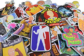 100 pcs One Punch ManWaterproof Stickers Bomb Superheroes for Laptop, Notebooks, Car, Bicycle, Skateboards, Luggage Decoration (One Punch)
