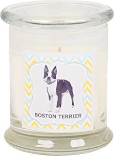 Aroma Paws Aromatic Dog Candle in Jar with Lid – for Canine Pet Odors, Vanilla Nutmeg Clove Scent – Cotton Wick Handcrafted – Soy Wax – Reusable, Recyclable Jar – 90 Min. Burn Time – 12 Oz.