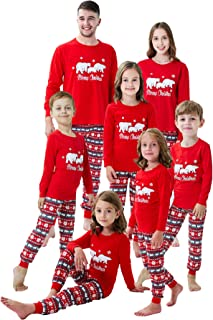 Little bety Holiday Family Matching Pajamas Reindeer Pajama PJ Sets