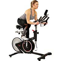 Sunny Health & Fitness Magnetic Rear Belt Drive Indoor Cycling Bike with RPM Cadence Sensor (SF-B1709)