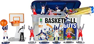 Kaskey Kids Basketball Guys - Inspires Imagination with Endless Hours of Creative, Open-Ended Play – Includes 2 Full Teams and Accessories. Fun Way to Teach The Rules of The Game. 25+ Pieces. Ages 3+