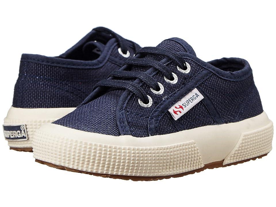 Superga Kids 2750 JCOT Classic (Toddler/Little Kid) (Navy) Kids Shoes