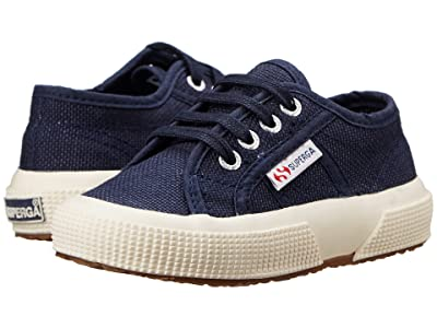 Superga Kids 2750 JCOT Classic (Toddler/Little Kid) (Navy) Kids Shoes