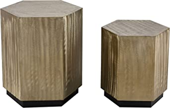 Sterling Home Broodcomb accent table, Gold