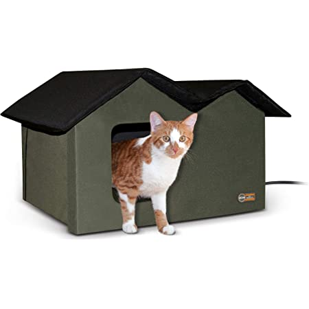 K&H Pet Products Outdoor Multi-Kitty House Cat Shelter Heated or Unheated