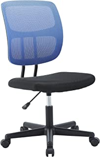 TANUMI ブラック オフィスチェア メッシュタイプ デスクチェア 通気性 腰サポートバー 無段階昇降 360度回転 事務椅子 強化ナイロン樹脂ベース エントリー いす Essentialシリーズ 青