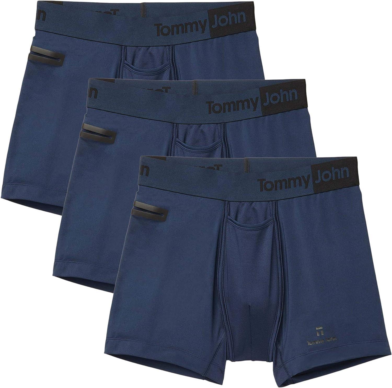 Tommy John Men's Underwear, Boxer Briefs, 360 Sport Fabric Trunk with 4