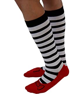 The Wizard of Oz Wicked Witch Stripes with Ruby Red Slippers Socks