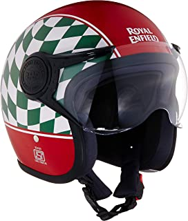 Royal Enfield Red Open Face with Visor Helmet Size (XL)62 CM (RRGHEJ000055)