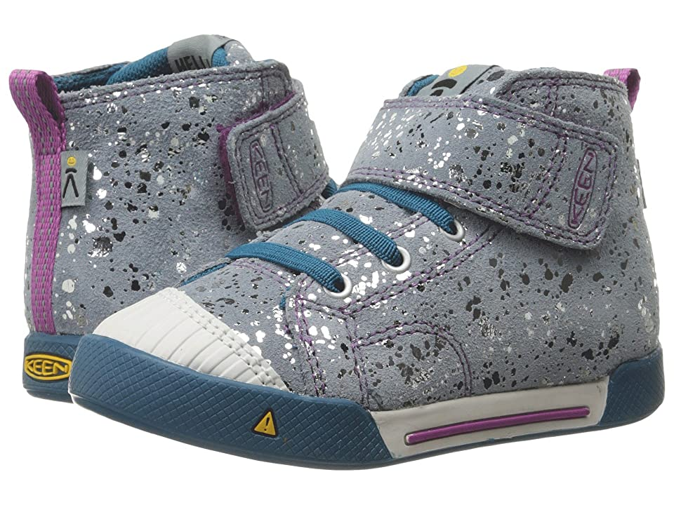 Keen Kids Encanto Scout High Top (Toddler) (Silver Splatter/Purple Wine) Girls Shoes
