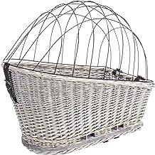 Trixie Fietsmand met rooster voor rek, wilg/metaal, 35 x 49 x 55 cm, grijs, 2,259 kg