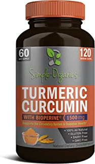 Turmeric Curcumin with Bioperine 1500mg Promotes Anti-Inflammatory, Antioxidant & Anti-Aging Supplement. Joint Pain Relief...