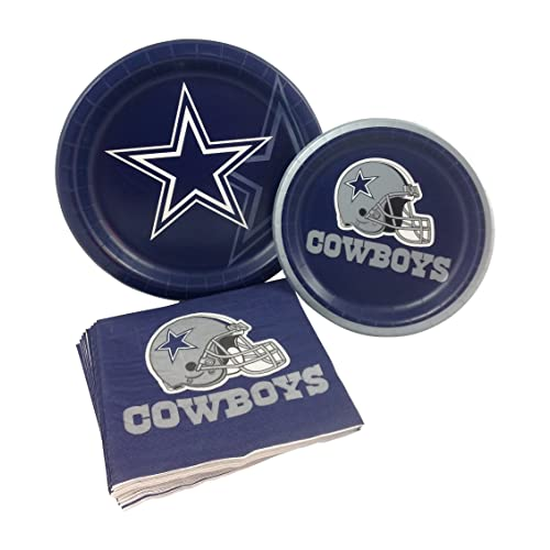 1d8ec431079 Dallas Cowboys Football Party Supply Pack! Bundle Includes Paper Plates &  Napkins for 8 Guests