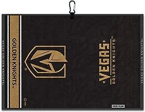 Team Effort NHL Vegas Knights NHL Vegas Golden Knights Face/Club Jacquard Golf TowelVegas Golden Knights Face/Club Jacquard Golf Towel, Multi, NA