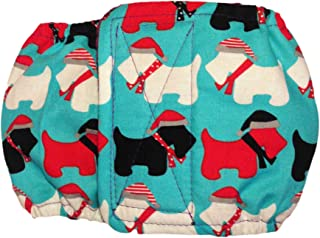Barkertime Male Dog Diaper - Made in USA - Holiday Doggie Washable Dog Belly Band Male Wrap for Territorial Marking, Excitable Peeing and Urinary Incontinence